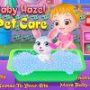 Baby hütet Haustiere