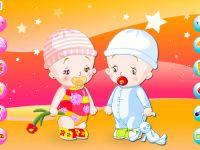 Babys Einkleiden