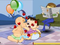 Küssende Babys