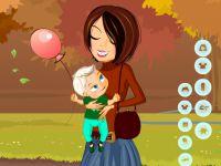 Mutter und Kind Einkleiden