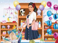 Schwangere Frau Einkleiden